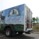 The 100% electric milk truck, Morning Fresh Dairy purchased from Boulder Electric Vehicles