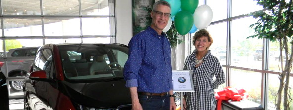 The Schultz Family were the first to purchase the BMW i3 from Co's BMW