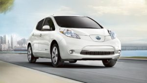 2017 Nissan Leaf Exterior Pearl White Large